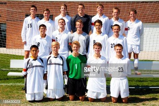 Grand group formelle Photo d'équipe de football
