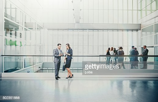 large group of Business people in lobby