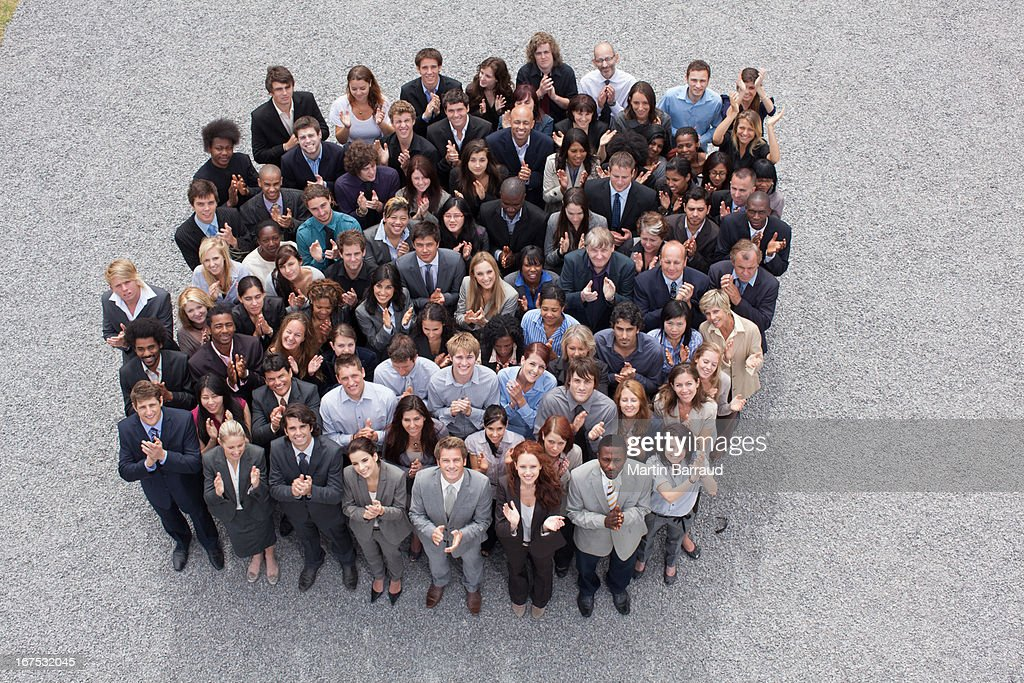 Large group of business people : Stock Photo
