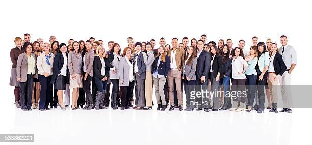 Large group of business people.