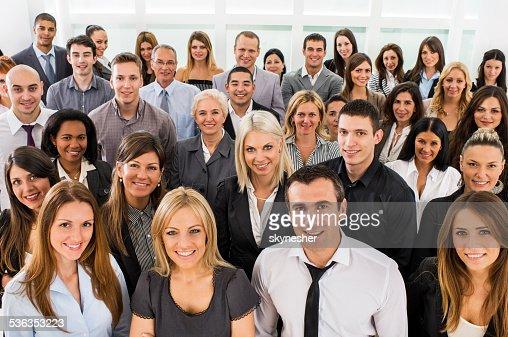 Gran grupo de gente de negocios.