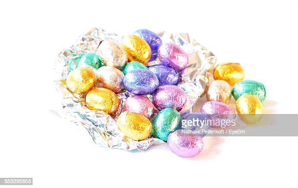 Large Group Of Chocolate Eggs In