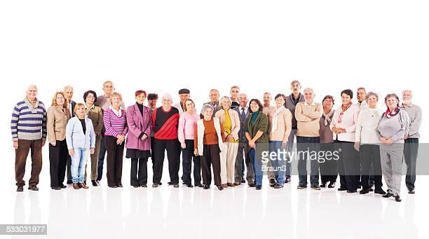 Large group of happy seniors.