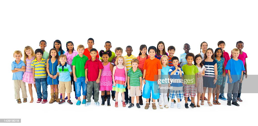 Large group of multi-ethnic people from around the world : Stock Photo