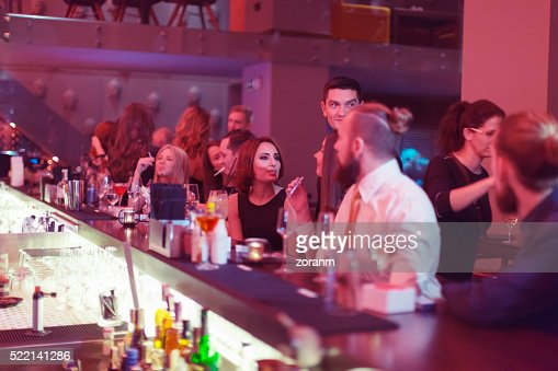 Large group of people in nightclub