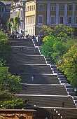 Large group of people on stairs, Potemkin, Odessa, Ukraine