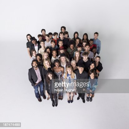Large Group of people standing close together