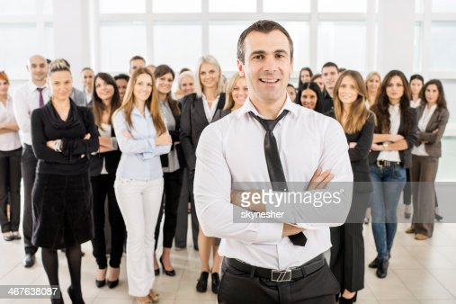 Large group of smiling business people. : Stock Photo