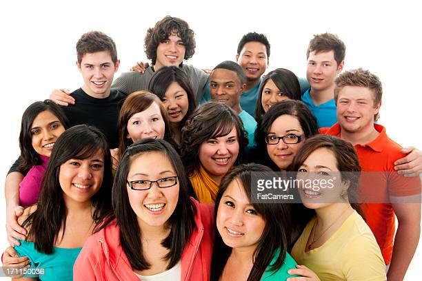 Gruppo numeroso di studenti
