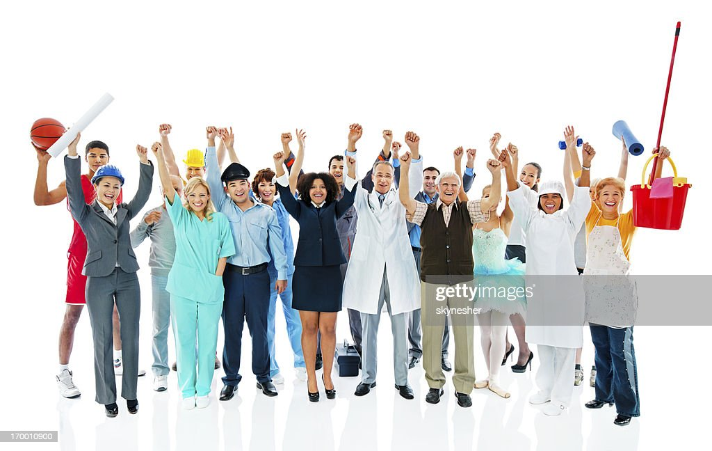 Large Group of successful Various Occupations people.