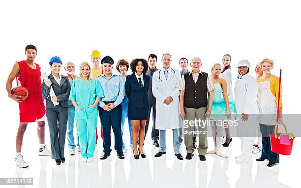 Large Group of Various Occupations people.
