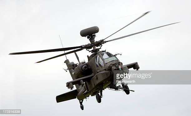 Large military helicopter in flight