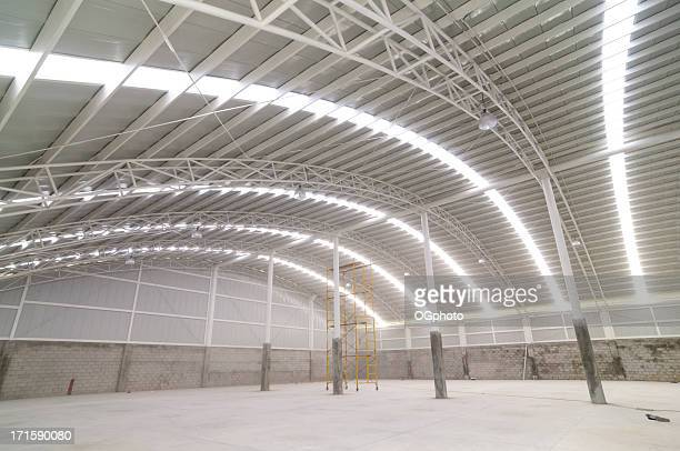 Large modern empty warehouse