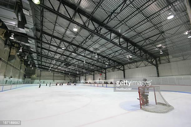 Large Modern Interior Hockey Arena