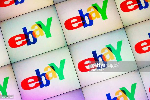A large monitor displays the Ebay logo at an Ebay Live event on September 27 2003 in Berlin Germany Ebay Germany held an Ebay Live event where...