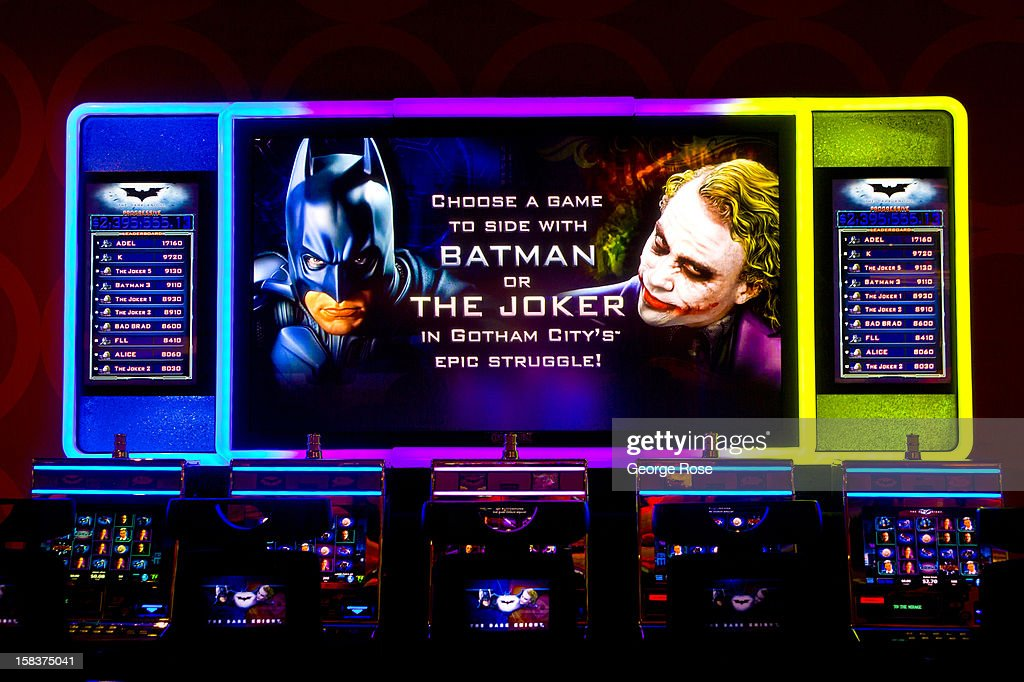 A large multi-player Batman and Joker video slot machine at the Mirage Hotel & Casino November 18, 2012 in Las Vegas, Nevada. Tourism in America's ''Sin City'' is slowly making a comeback from the Great Recession with visitors filling the hotels, restaurants, and casinos in record numbers.