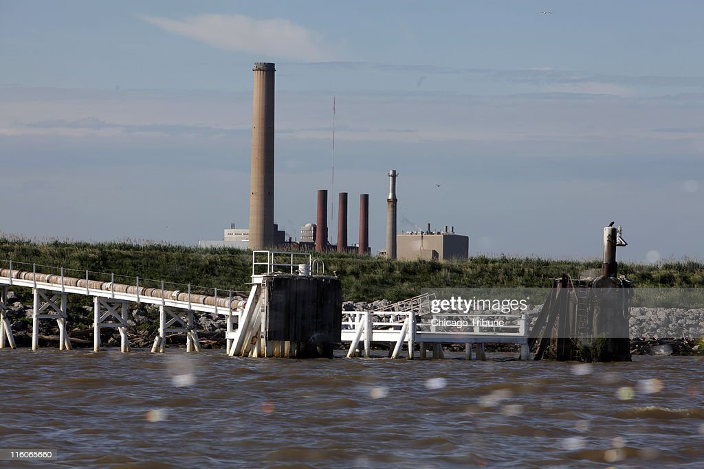 Large numbers of fish die in the cooling intakes at the Bay Shore coal plant on Maumee Bay in Oregon Ohio