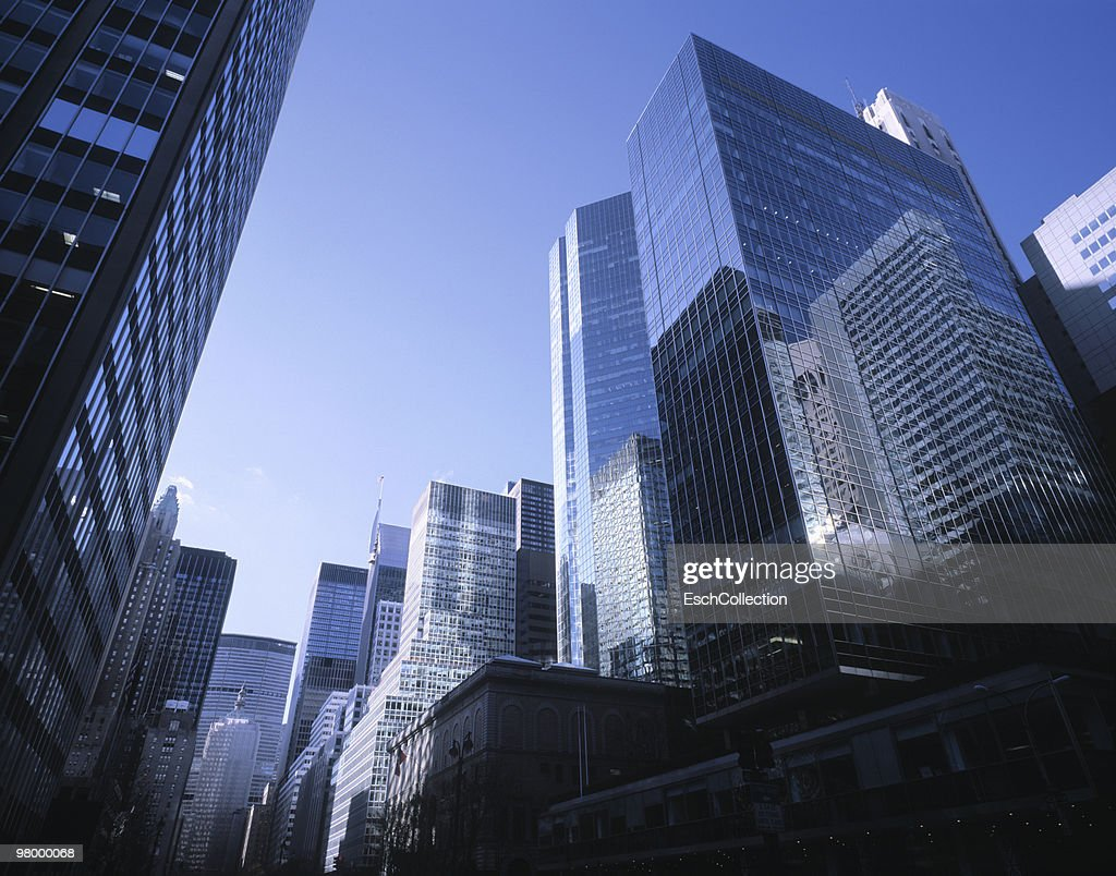 Large office buildings at Park Avenue in New York : Stock Photo