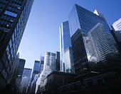 Large office buildings at Park Avenue in New York