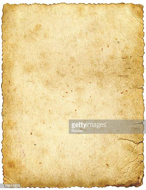 large old paper isolated