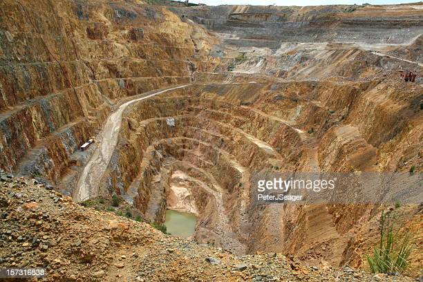 Large open pit gold mine in New Zealand