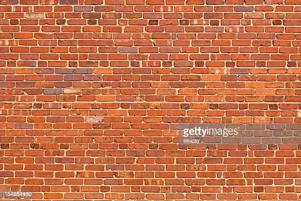 Large Orange Brick Wall Background