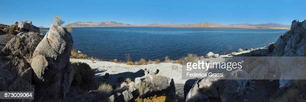 Large Panoramic Of Pyramid Lake And Its Beach