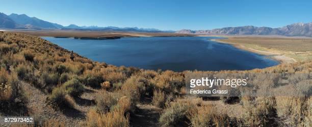 Large Panoramic View Of Crowley Lake, California