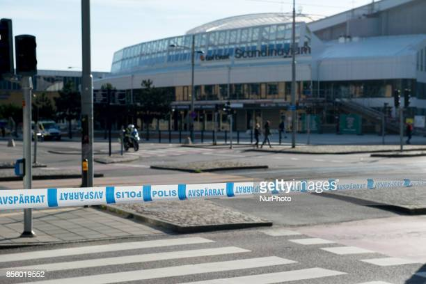 Large part of central Gothenburg were blocked off by police as members of the Nordic Resistance Front attempted to march through the city on...