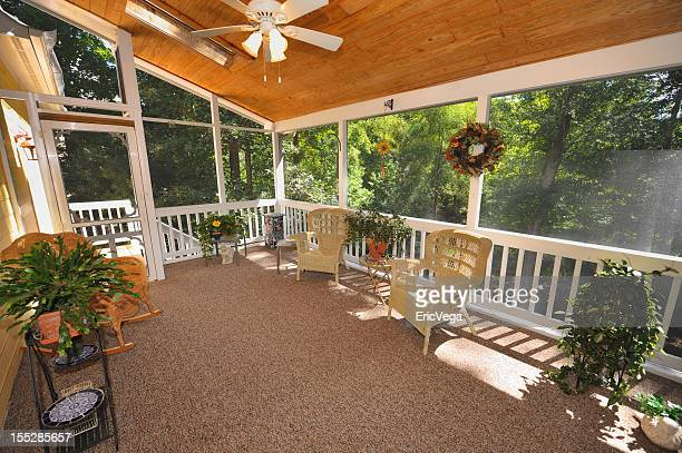 Large patio with plants in home