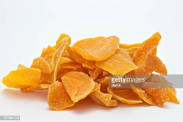 Large pile of dried up mango.