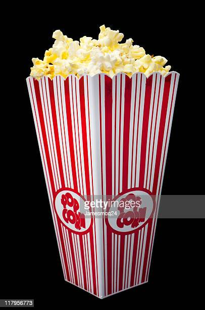 A large popcorn on a black background