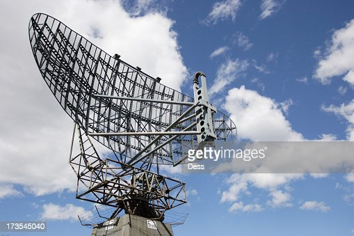 Large radar used to track aircraft