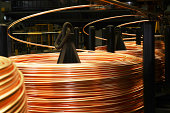 Copper pipes factory