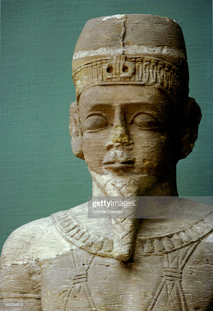 Large sandstone statue found in the ruins of the temple of Isis at Meroe, probably a guardian figure from the temple gateway, Sudan. Nubian. c 400 BC. Meroe.