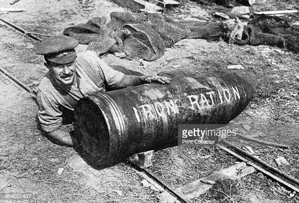 Large shell on its way to the front First World War 19141916 Someone has jokily written Iron Ration on the side Illustration from The Illustrated War...