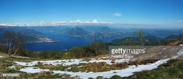 Large Size Panoramic of Lake Maggiore seen from Mount Mottarone