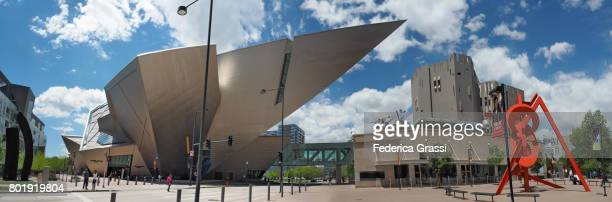 Large Size Panoramic View of Denver Art Museum, Colorado