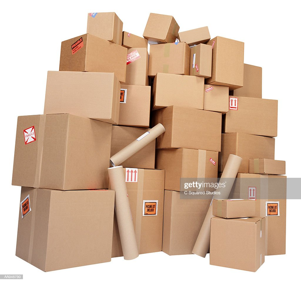 A Large Stack of Parcels : Stock Photo