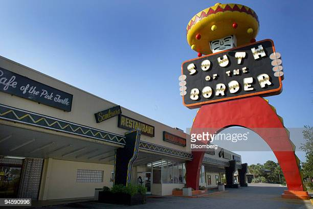 A large statue of 'Pedro' looks down over the South of the Border restaurant near Dillon South Carolina Monday August 28 2006 Federal Reserve...