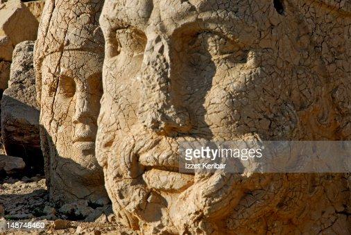 Large statues on Mount Nemrud.