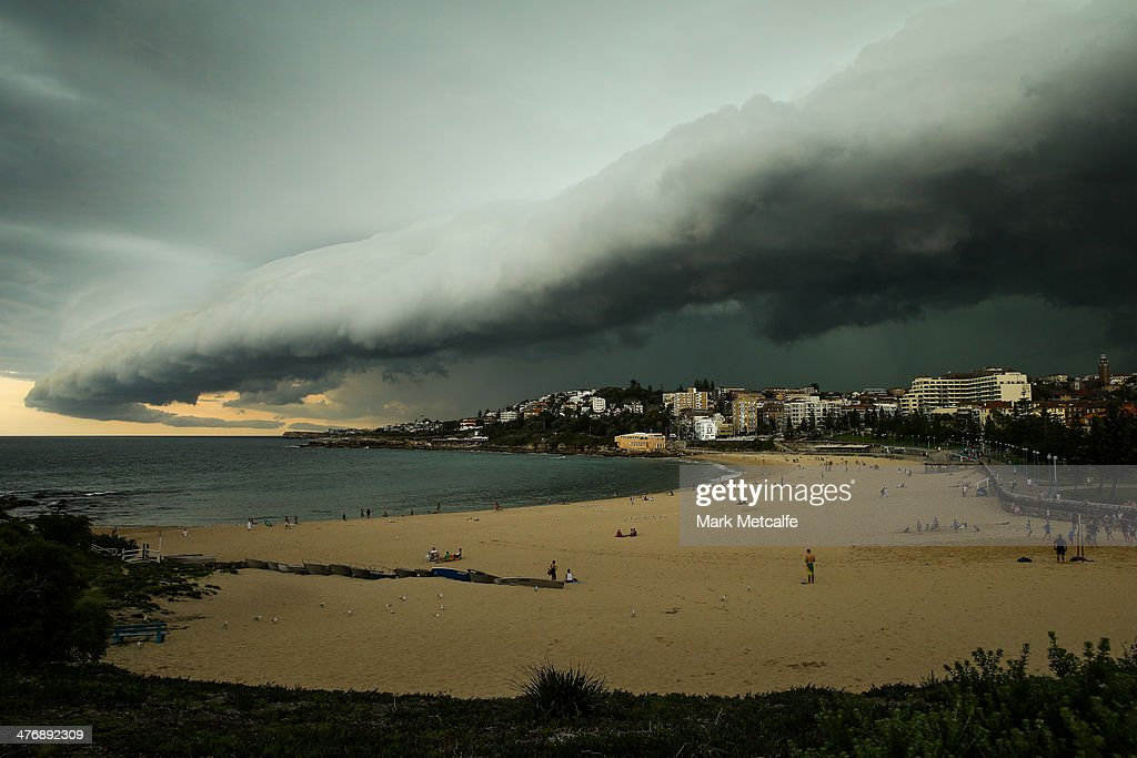 A large storm cloud covers Coogee Beach on March 5, 2014 in Sydney, Australia. A severe thunderstorm warning was issued for the Sydney metropolitan area late this afternoon with heavy rainfall due to cause flash flooding in areas.