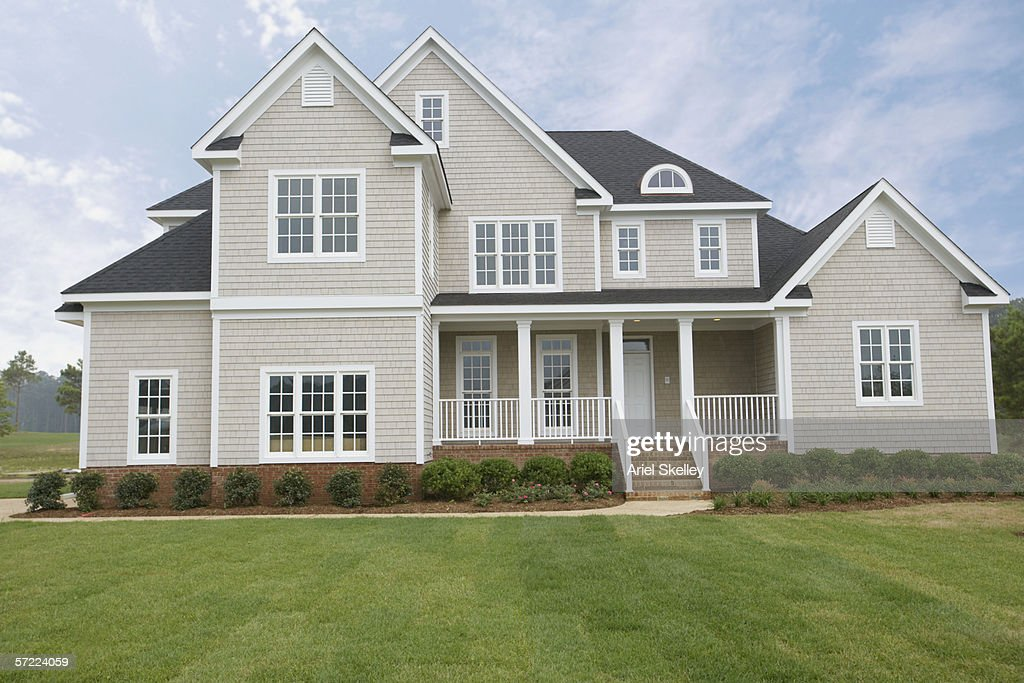 A large suburban house : Stock Photo