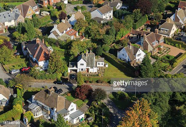 Large suburban houses from above