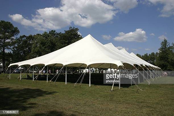 Large tent set up on the lawns for banquet