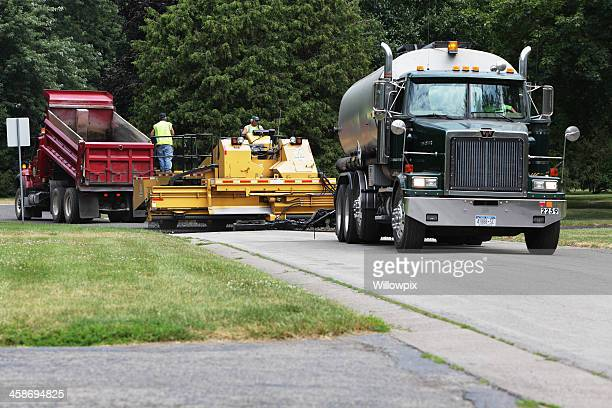 Large Trucks and Automated Road Resurfacing Equipment