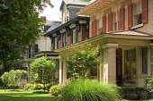 Lovingly maintained upper middle class houses in Louisville, KY