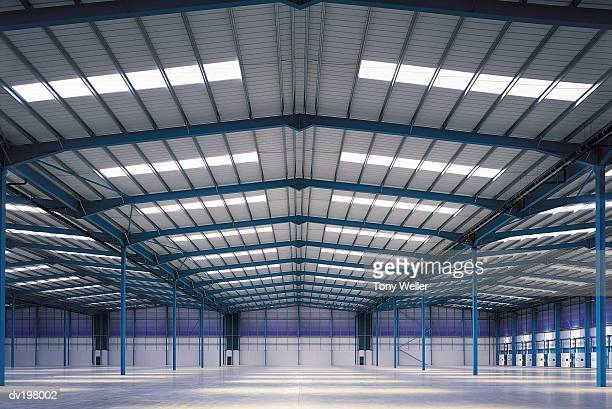 Large vacant hangar
