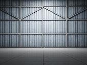 Large warehouse door illuminate spot light