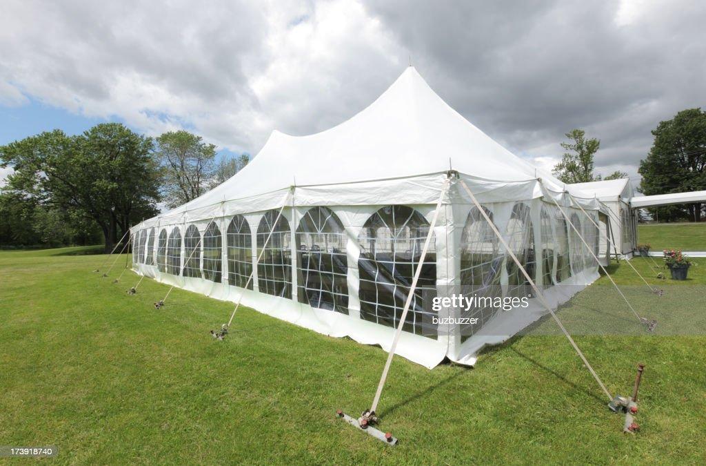 Large White Celebration Tent : Stock Photo